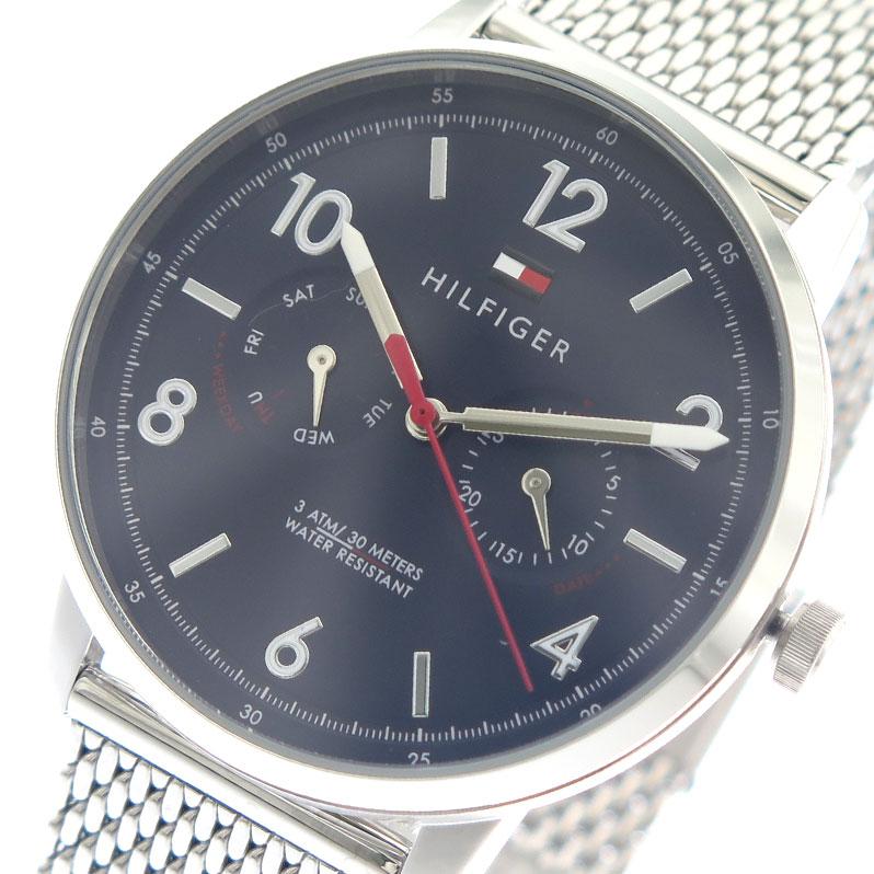 トミーヒルフィガー TOMMY HILFIGER 腕時計 時計 メンズ 1791354 ネイビー シルバー