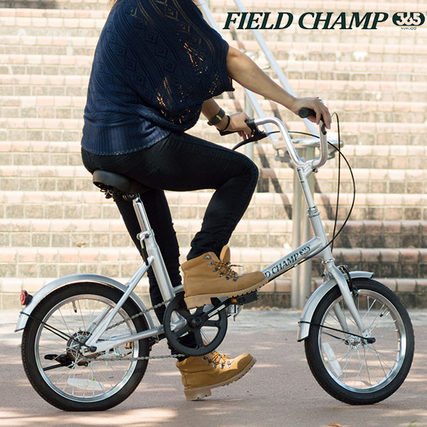 フィールドキャンプ FIELD CHAMP 自転車 72750 シルバー 代引き不可