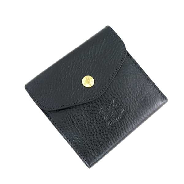イルビゾンテ ILBISONTE 二つ折り財布 メンズ レディース C0424P-153 ブラック