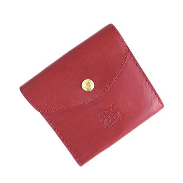 イルビゾンテ ILBISONTE 二つ折り財布 メンズ レディース C0424P-245 ルビーレッド