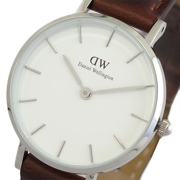 ダニエルウェリントン DANIEL WELLINGTON 腕時計 時計 レディース DW00100243 クォーツ ホワイト ダークブラウン