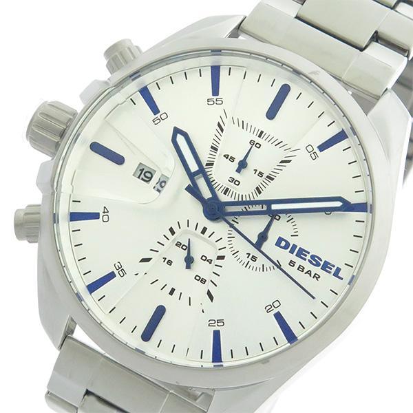 ディーゼル DIESEL クロノ クオーツ メンズ 腕時計 時計 DZ4473 シルバー/シルバー