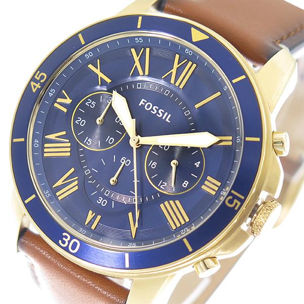 フォッシル FOSSIL 腕時計 時計 メンズ FS5268 ネイビー ブラウン