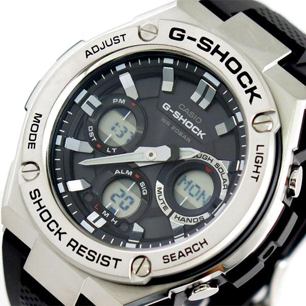 カシオ CASIO Gショック G-SHOCK タフソーラー 腕時計 時計 メンズ GST-S110-1A クォーツ ブラック【ポイント10倍】