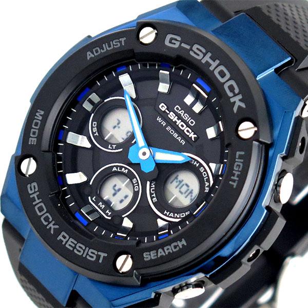 カシオ CASIO Gショック G-SHOCK タフソーラー 腕時計 時計 メンズ GST-S300G-1A2 クォーツ ブラック【ポイント10倍】