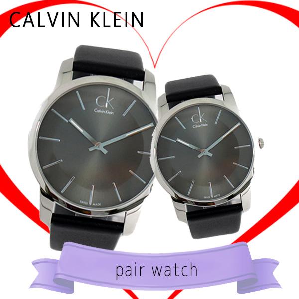 ペアウォッチ カルバンクライン CALVIN KLEIN 腕時計 時計 K2G21107 K2G23107 メタルブラック ブラック