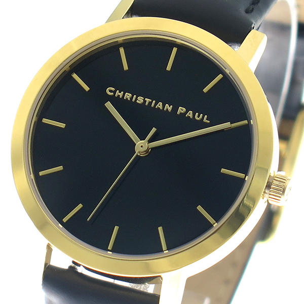 クリスチャンポール CHRISTIAN PAUL 腕時計 時計 レディース クォーツ RBG3508 ロウ RAW ブラック