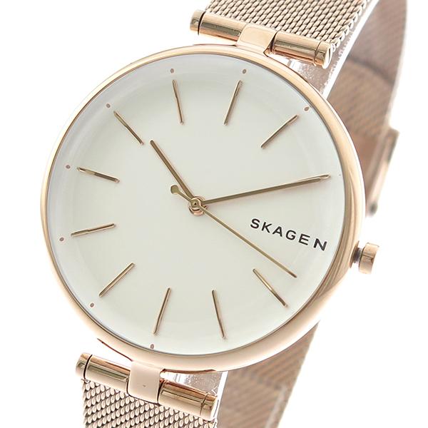 スカーゲン SKAGEN 腕時計 時計 レディース SKW2709 SIGNATUR クォーツ パールホワイト ピンクゴールド
