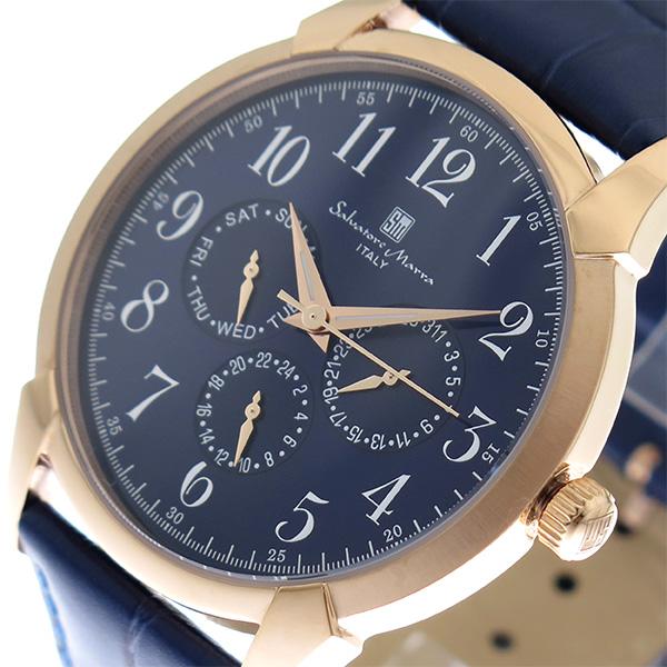 サルバトーレマーラ SALVATORE MARRA 腕時計 時計 メンズ SM18107-PGBL ブルー ネイビー