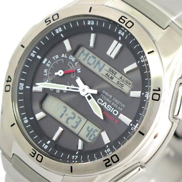 カシオ CASIO 腕時計 時計 メンズ WVA-M650D-1A ウエーブセプター WAVE CEPTOR クォーツ ブラック シルバー