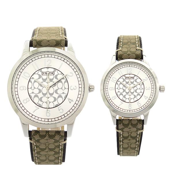 ペアウォッチ コーチ COACH 腕時計 時計 ペアウォッチ メンズ レディース 14000042 クォーツ シルバー