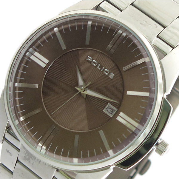 ポリス POLICE 腕時計 時計 メンズ 14384JS-11M クォーツ ブラウン シルバー