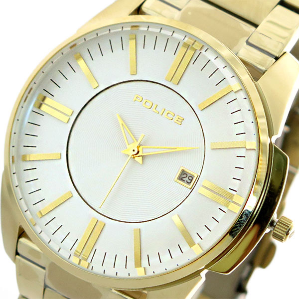 ポリス POLICE 腕時計 時計 メンズ 14384JSG-01M クォーツ ホワイト ゴールド