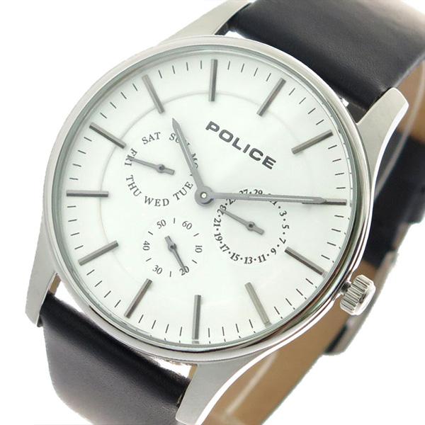 ポリス POLICE 腕時計 時計 メンズ 14701JS-01 クォーツ ホワイト ブラック