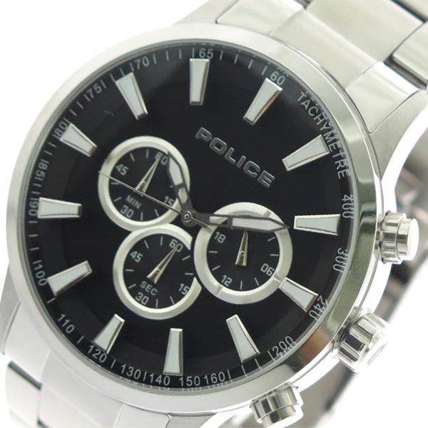 ポリス POLICE 腕時計 時計 メンズ 15000JS-02M クォーツ ブラック シルバー