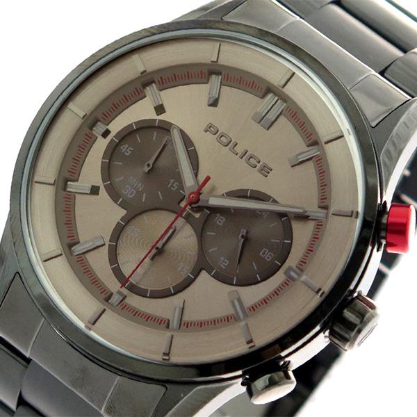 ポリス POLICE 腕時計 時計 メンズ 15001JSU-13M クォーツ メタルグレー ガンメタ