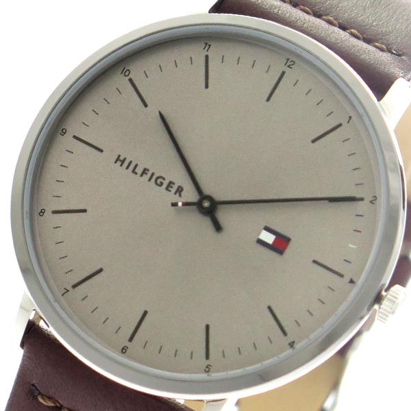 トミーヒルフィガー TOMMY HILFIGER 腕時計 時計 メンズ 1791463 クォーツ グレーシルバー ブラウン
