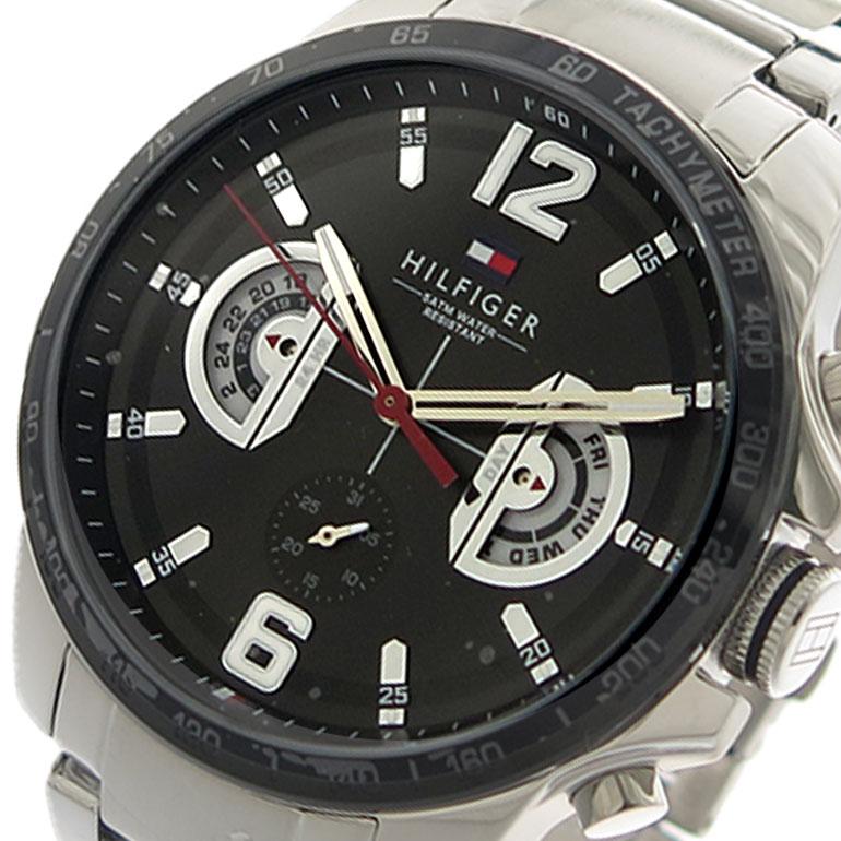 トミーヒルフィガー TOMMY HILFIGER 腕時計 時計 メンズ 1791472 クォーツ ブラック シルバー
