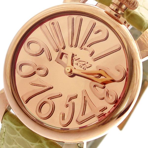 ガガミラノ GAGA MILANO 腕時計 メンズ レディース 5221MIR01 クォーツ ピンクゴールド ベージュ【送料無料】