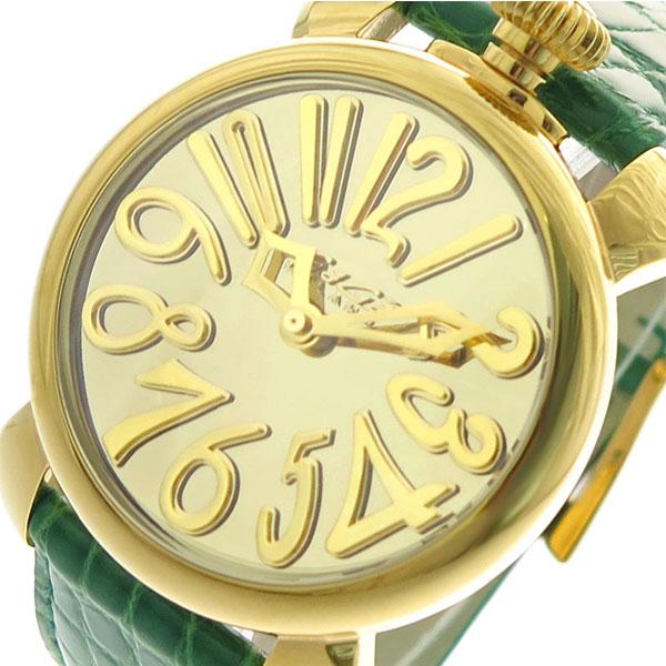ガガミラノ GAGA MILANO 腕時計 メンズ レディース 5223MIR01 クォーツ シャンパンゴールド グリーン【送料無料】