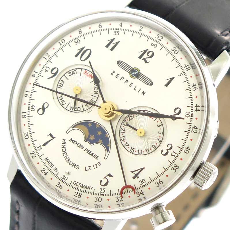 ツェッペリン ZEPPELIN 腕時計 時計 レディース 7037-1 クォーツ シルバー ブラック