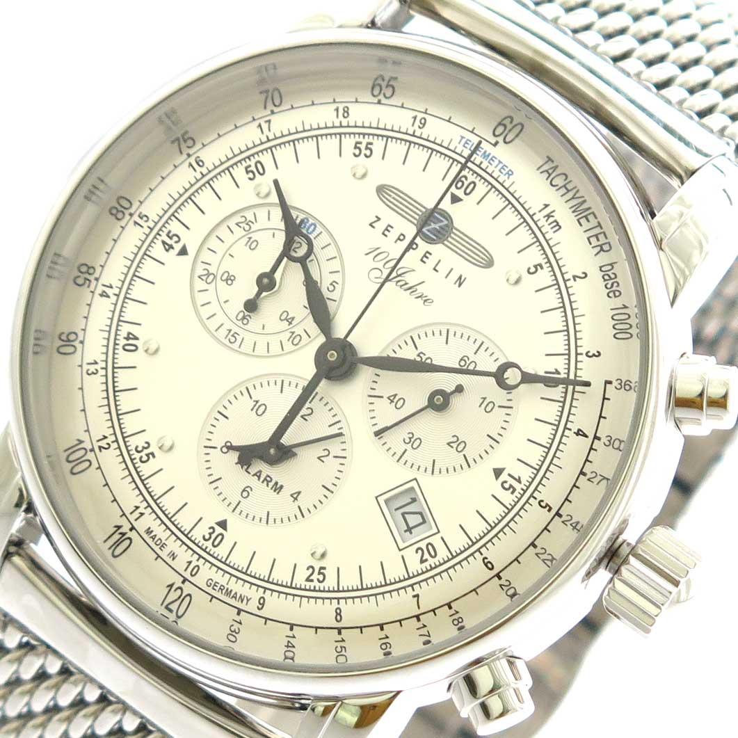 ツェッペリン ZEPPELIN 腕時計 メンズ 7680M-1 クォーツ シルバー【送料無料】