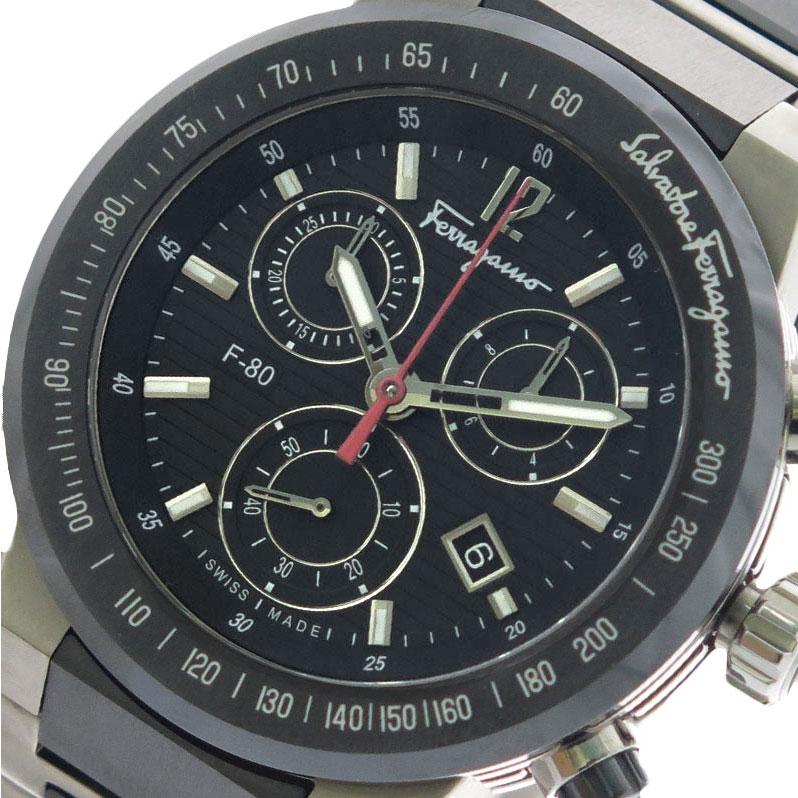 サルバトーレ フェラガモ SALVATORE FERRAGAMO 腕時計 メンズ F55030014-H クォーツ ブラック シルバー×ブラック【送料無料】【ポイント10倍】