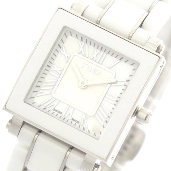 フェンディ FENDI 腕時計 レディース F622240B セラミック CERAMIC クォーツ ホワイトパール ホワイト【送料無料】
