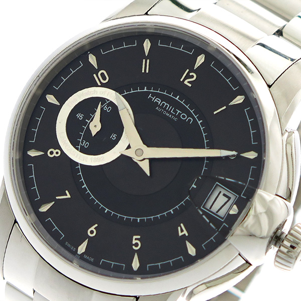 開店祝い ハミルトン HAMILTON 腕時計 ハミルトン メンズ HAMILTON H40615135 自動巻き シルバー【送料無料】 ブラック シルバー【送料無料】, オオシママチ:fc122295 --- experiencesar.com.ar