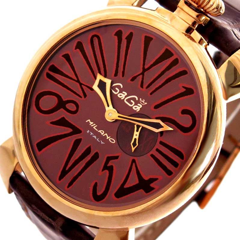ガガミラノ GAGA MILANO 腕時計 メンズ M508501 クォーツ メタリックブラウン ダークブラウン【送料無料】