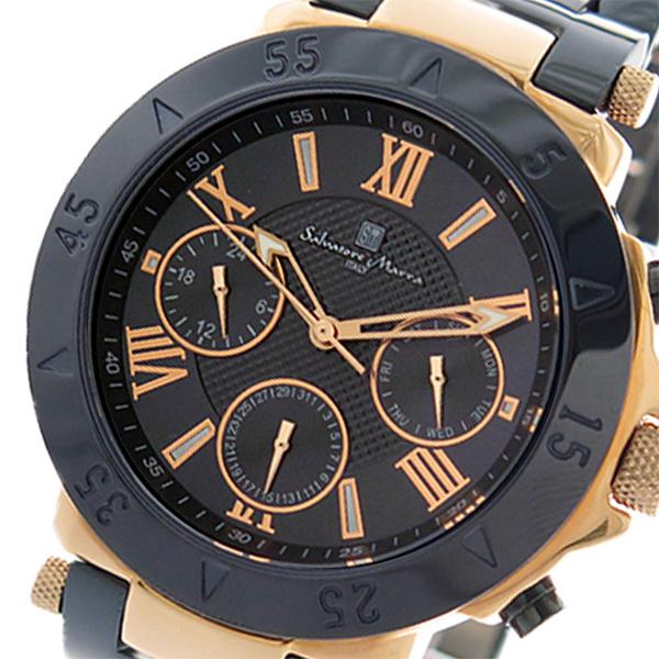 サルバトーレマーラ SALVATORE MARRA 腕時計 時計 メンズ SM14118-PGNV クォーツ ダークネイビー