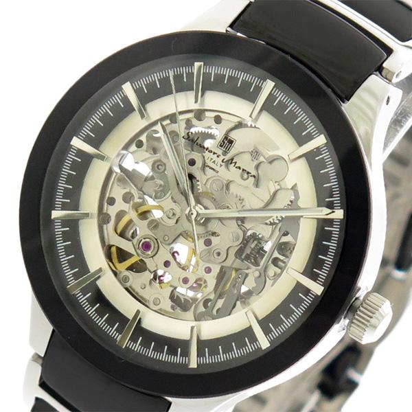 サルバトーレマーラ SALVATORE MARRA 腕時計 時計 メンズ レディース SM17122-SSBK 自動巻き ブラック シルバー
