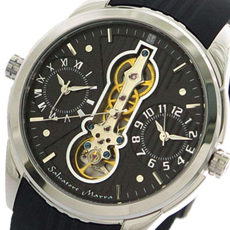 サルバトーレマーラ SALVATORE MARRA 腕時計 時計 メンズ SM18113-SSBK クォーツ ブラック