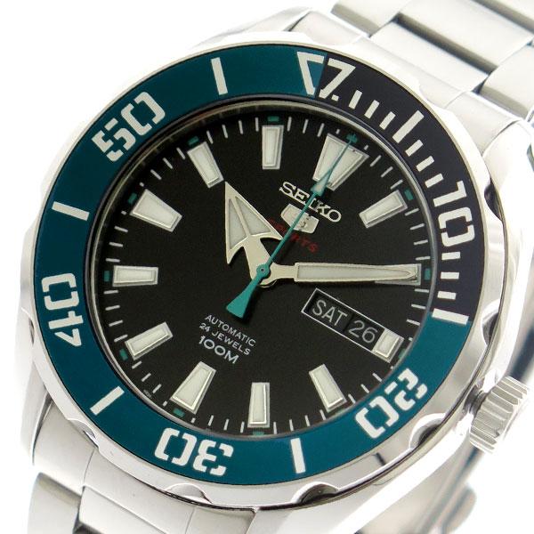 セイコー SEIKO 腕時計 時計 メンズ SRPC53K1 セイコーファイブ スポーツ 自動巻き ブラック シルバー