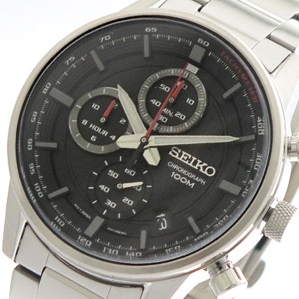 セイコー SEIKO 腕時計 時計 メンズ SSB313P1 クォーツ ブラック シルバー
