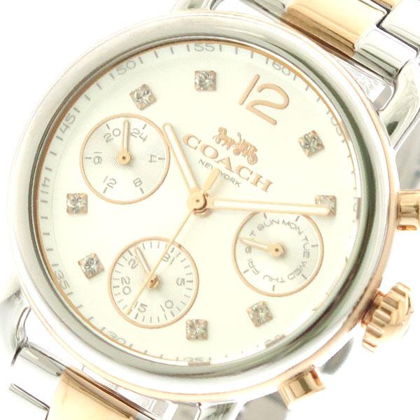 コーチ COACH 腕時計 時計 レディース 14502945 クォーツ シルバー シルバー ピンクゴールド