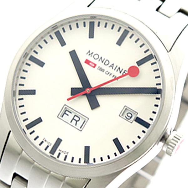 モンディーン MONDAINE 腕時計 時計 メンズ A667.30340.16SBM クォーツ ホワイト シルバー