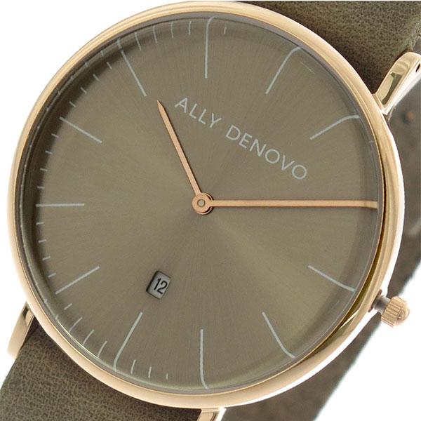 アリーデノヴォ ALLY DENOVO 腕時計 時計 レディース 40mm AM5015-3 HERITAGE クォーツ グレーカーキ