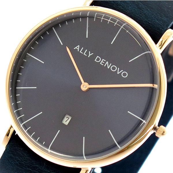 アリーデノヴォ ALLY DENOVO 腕時計 時計 レディース 40mm AM5015-4 HERITAGE クォーツ ネイビー