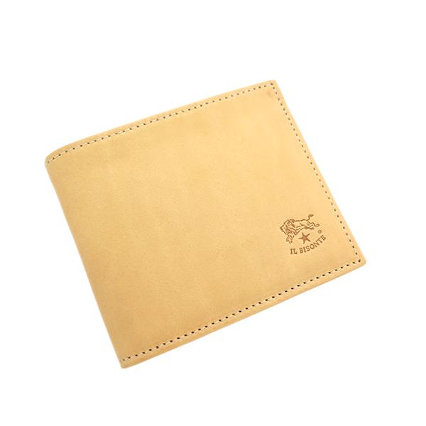 イルビゾンテ IL BISONTE 二つ折り財布 メンズ レディース C0487MP-120 ナチュラル