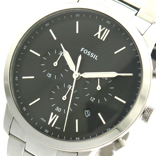 フォッシル FOSSIL 腕時計 時計 メンズ FS5384 クォーツ ブラック シルバー