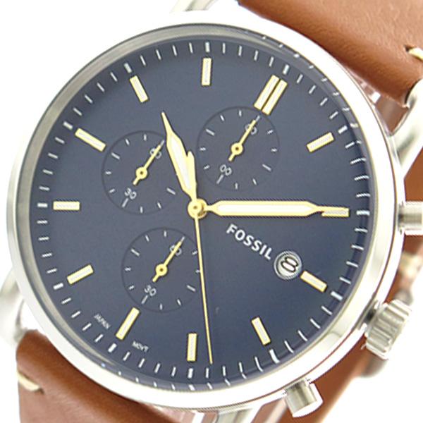 フォッシル FOSSIL 腕時計 時計 メンズ FS5401 クォーツ ネイビー ブラウン