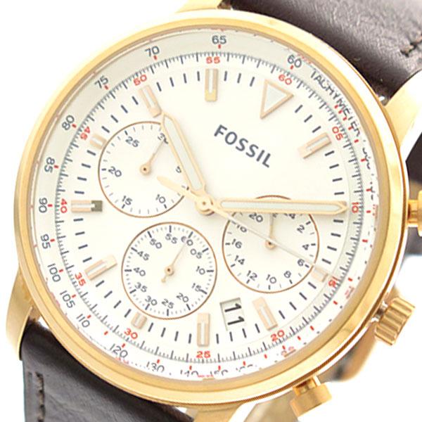 フォッシル FOSSIL 腕時計 時計 メンズ FS5415 クォーツ ホワイト ブラウン