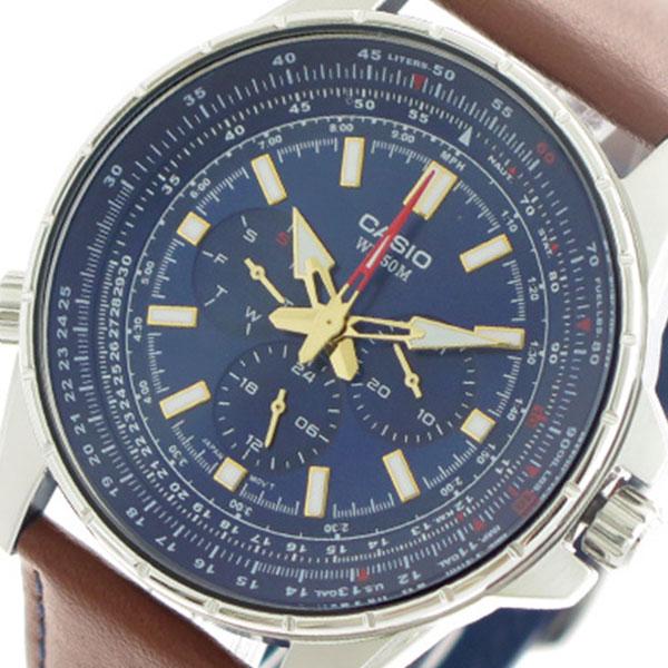 【希少逆輸入モデル】 カシオ CASIO 腕時計 時計 MTP-SW320L-2A クォーツ ネイビー ブラウン
