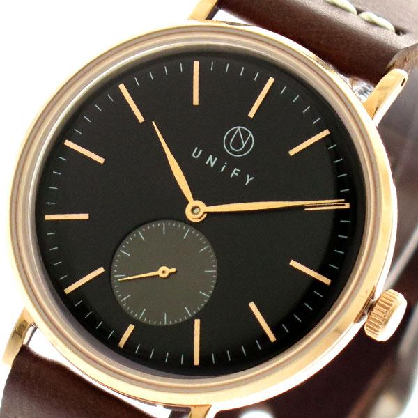 ユニファイ UNIFY 腕時計 時計 メンズ レディース UF-001BK-PG-BR クォーツ ブラック ブラウン