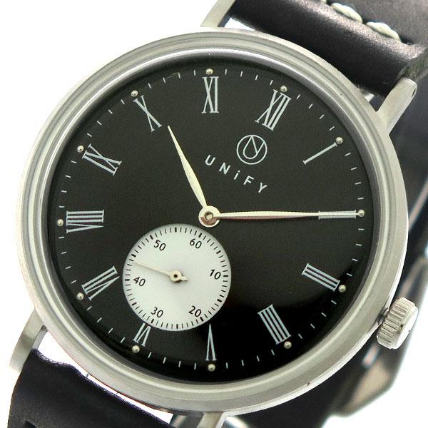 ユニファイ UNIFY 腕時計 時計 メンズ レディース UF-001BK-WH-BK クォーツ ブラック