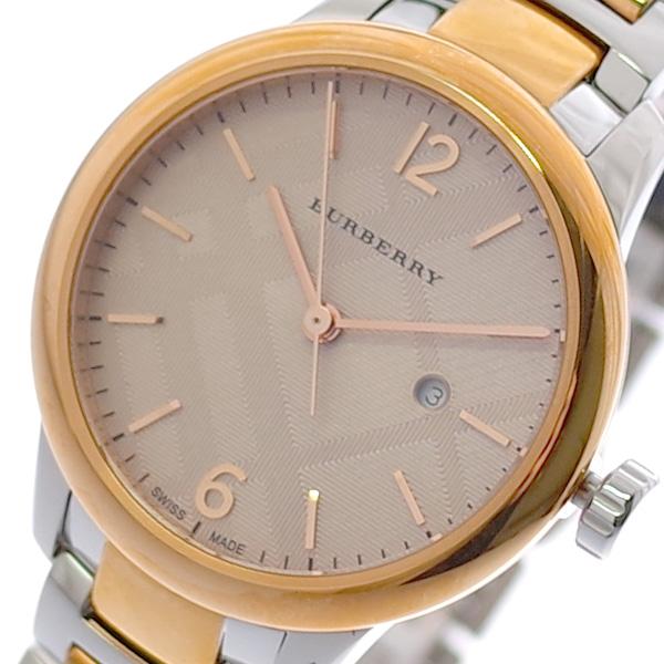 バーバリー BURBERRY 腕時計 レディース BU10117 コンビ クォーツ ピンクゴールド シルバー【送料無料】