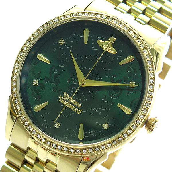 ヴィヴィアンウエストウッド VIVIENNE WESTWOOD 腕時計 時計 メンズ レディース VV208GDGD クォーツ グリーン ゴールド【S1】