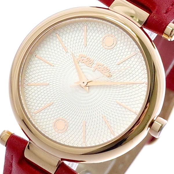 フォリフォリ FOLLIFOLLIE 腕時計 時計 レディース WF18R001SPS-RE CYCLOS ROCKS クォーツ ホワイト レッド