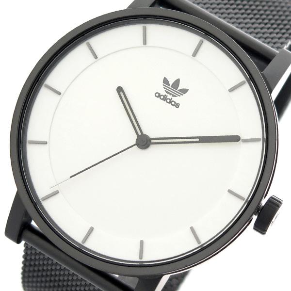 アディダス ADIDAS 腕時計 時計 メンズ レディース Z04-005 ディストリクト-M1 DISTRICT-M1 CJ6327 クォーツ ホワイト ブラック